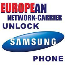 UNLOCK CODE FOR SAMSUNG GALAXY ALL EUROPEAN MODELS TILL 12/2017 NCK-MCK CODE