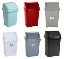 More details for plastic bins swing rubbish bin 8 15 25 50 litre dust bin office / kitchen / home