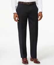 $350 TOMMY HILFIGER men BLUE FIT FLAT FRONT WOOL DRESS PANTS TROUSERS 31 W 32 L
