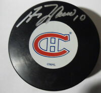 GUY  LAFLEUR  SIGNED  PUCK  MONTREAL  CANADIENS   WITH  COA