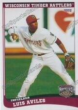 2016 Wisconsin Timber Rattlers Luis Aviles Rookie Brewers