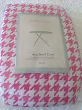 Sheffield Home Ironing Board Cover Pink And White Hounds Tooth Nip
