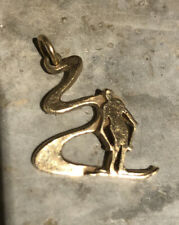 RETIRED JAMES AVERY 14K Gold Downhill Skier Cut Out Charm
