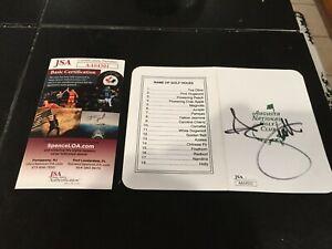 Adam Scott Hand Signed Augusta National Masters Score Card Scorecard - JSA