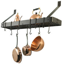 Oiled Bronze Over Stove Hanging Pot Rack Pan Storage Book shelf teapot hooks