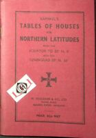 TABLES OF HOUSES for NORTHERN LATITUDES Raphael's W.Foulsham & Co. LTD
