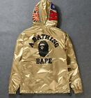 Men's Bape Two-Wear Jacket Black Monkey Icon A Bathing Ape Hoodie Windbreaker