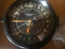 Antique Chelsea U.S. Navy Ship's Clock, X-Cond. + Mounting Hrdwr