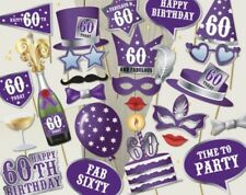 60th Birthday party photo props decoration ready made celebration event family