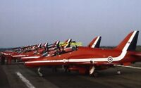 PHOTO  RED ARROWS AT BLACKPOOL AIRPORT 1982