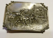 Siskiyou Beltbuckle Solid Pewter Smoke of a Forty-Five #626