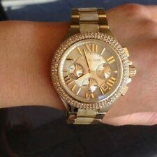 Michael Kors Camille Gold-tone Acetate Chronograph Watch Gold-tone MK5902