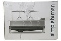 simplehuman KT1154 Steel Frame Dish Rack with Wine Glass Holder new in box