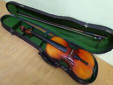 antike Geige mit Koffer .. innen mit Zettel ... bitte ansehen