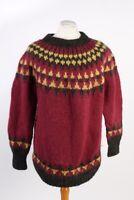 Vintage  Pullover Jumper Designer Round Neck Winter UK Size N/A Multi - IL1782