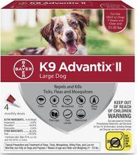 K9 Advantix Ii Large Dog 21-55 Lbs Flea and Tick Treatment,4 Monthly Doses Nib