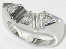 White Gold Eternity Simulated Costume Rings