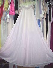 VTG RARE! Vintage BLUSH PINK Designer LUCIE ANN Cotton Full Sweep Nightgown! S M