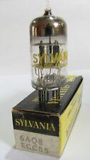 One 1960s Sylvania 6AQ8 ECC85 tube - Hickok TV7B tests @ 100/99, min:50/50