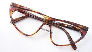 Brillenfassung braun Cateye große Damenbrille von Jean Clement Edelmarke Gr. L