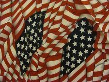 USA AMERICAN FLAGS IN POLYCOTTON BANDANA, HEADWRAP.
