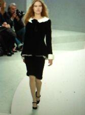 CHANEL 08A LESAGE NEW Black Tweed Jacket Creme SilkCollar Cuffs Balero FR46 $10K
