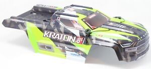 KRATON 8S - Body Shell (GREEN polycarbonate cover & Body Pins Arrma AR110002