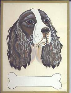 Hand Painted Wooden Dog Plaques-32 Breeds-Place for Name