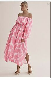 BNWT COUNTRY ROAD off shoulder PRINT RAMIE PINK DRESS $199 SIZE 4