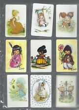 PLAYING *SWAP *CARDS* CHEAP AS CHIPS!!  9 CUTE  GIRLIE  GIRLS 1970'S SIGNED