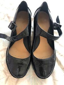 Clarks Women's Black Patent Shoes Size UK 5