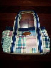 "TOMMY Hilfiger Canvas Multi-Color Plaid Indian Madras ""Doctor Bag"" Purse"