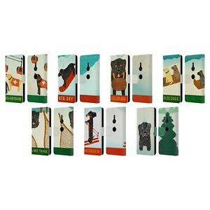 OFFICIAL STEPHEN HUNECK SNOW DOG LEATHER BOOK CASE FOR SONY PHONES 1