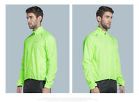Green Men's Bike Wind Coat Bicycle Waterproof Long Sleeve Cycling Jacket S-3XL