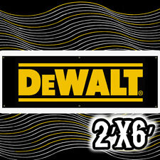 "Dewalt Tools Banner 24""x72"" BIGGER Sign (2x6 FT) 13 OZ. READY TO HANG"