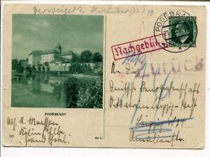 Czechoslovakia postage due postal card to Germany 21.3.1939, returned