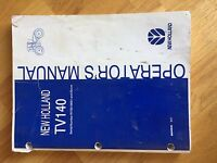 NEW HOLLAND FORD OPERATOR TRACTOR MANUAL TV140 140