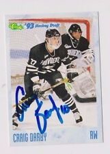93/94 Classic Draft Hockey Craig Darby Providence College Autographed Card
