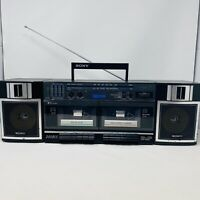 Vintage Sony CFS-W360 FM/AM Stereo Dual Cassette Boombox *READ DESCRIPTION*