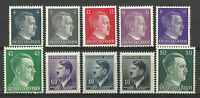 GERMANY ADOLF HITLER STAMP COLLECTION  PACKET of 10 DIFFERENT Stamps MNH