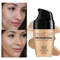 Liquid Foundation Cosmetic Waterproof Concealer Full Coverage Natural Matte Base