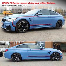BMW M Performance Motorsport Side Stripes decals Set for M4 F83