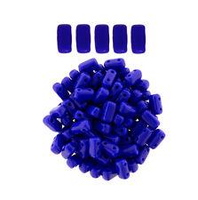 50 CzechMates Bricks Indigo Blue Two Hole Beads 3x6mm
