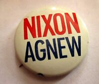 "1.25"" Vtg ORIGINAL NIXON AGNEW 1968 CAMPAIGN PIN"