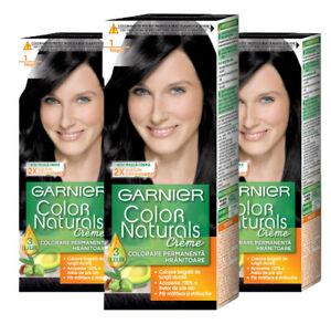 3 X Naturel Noir 1 Garnier color naturals Permanent Cheveux Teinture Couleur