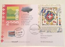 Switzerland 2000 Zeppelin Post St Gallen Illustrated Cover Very Fine