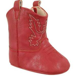 Baby Deer Red Soft Sole Western Cowboy Boots  Baby Size 3