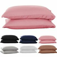 1/2pcs Pure Cotton Bed Pillow Case Pillow Covers Ultra Soft Solid Pillow Cases