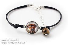 Dogue de Bordeaux.Bracelet for people who love dogs. Photojewelry. Handmade. Usa