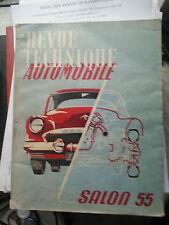 REVUE TECHNIQUE AUTOMOBILE SALON 1955
